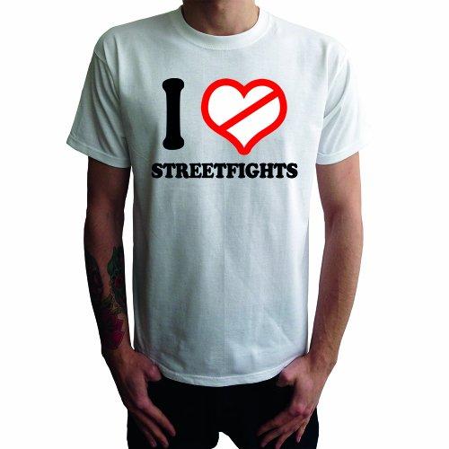 I don't love Streetfights Herren T-Shirt Weiß