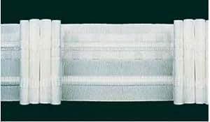 Ruther & Einenkel Faltenband mit 3 Falten, 50 mm, weiß, 250% / Aufmachung 100 m