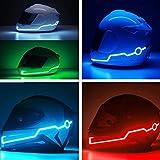 JenNiFer Motorrad-Helm-Licht-Streifen LED-Nacht-Signal-Licht Leucht-Streifen-Mode Verändert Leuchtstäbe - Weiß