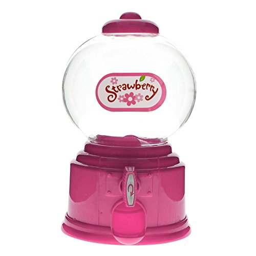 Papamsy Reizende Süßigkeit Zufuhr Maschine Gumball Gum Ball Snacks Lagerkästen Geschenke|6 Farben|Pink - Gumball Maschinen
