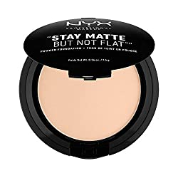 Nyx Professional Makeup Stay Matte Not Flat Powder Foundation, Light Beige, 7.5g
