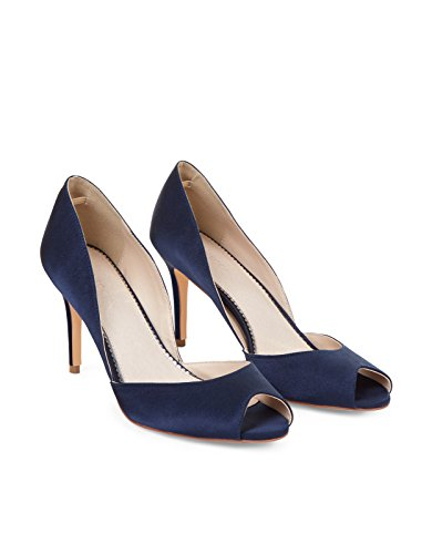 Monsoon Danni Peeptoe-Sandalen Marineblau