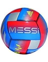 adidas Messi CPT - Balon de fútbol, Hombre, Football Blue/Active Red/Silver Met, 5