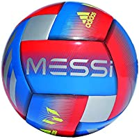 adidas Messi CPT Soccer Ball, Hombre, Football Blue/Active Red/Silver Met, 5