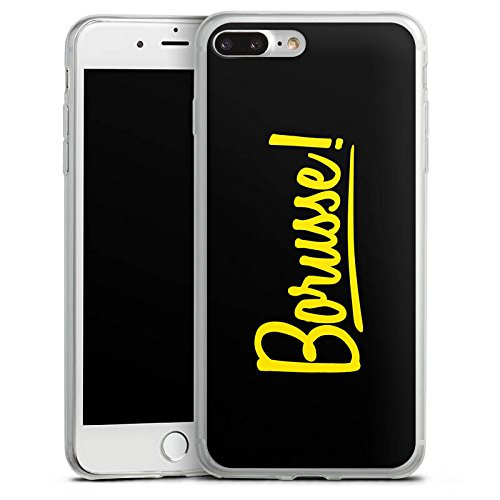 Apple iPhone 8 Plus Slim Case Silikon Hülle Schutzhülle Borusse Borussia Dortmund BVB Silikon Slim Case transparent
