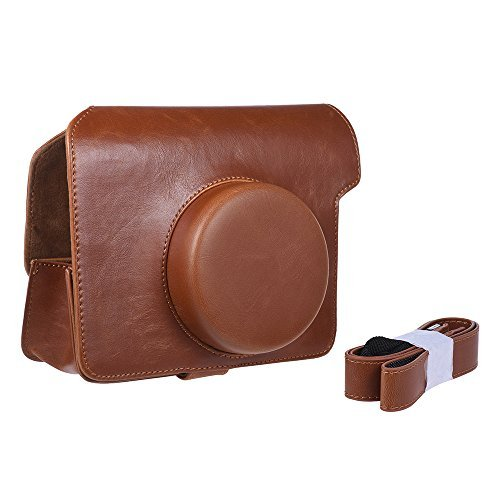 Andoer Vintage PU Protective Camera Case Bag Pouch Cover Protector w/ Camera Strap For Fujifilm Instax Wide W300 Instant Film Cam (Brown)  available at amazon for Rs.2779