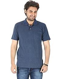 Basilio Men's Solid-Stylish Pure Cotton T-Shirt
