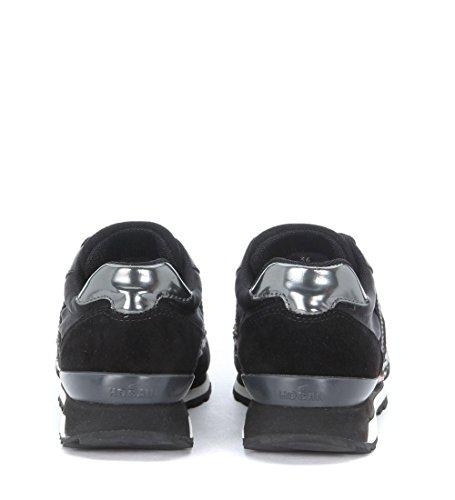 Sneaker Hogan Rebel R 261 in pelle e camoscio nero Nero