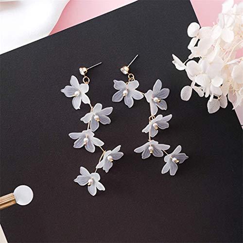 Ogquaton Lange durchdringende Blume Einfache Alphabetisierung Individualität Leichte Hochzeit Damenschmuck Geschenk Geschenk Haltbarkeit Praktisch und nützlich