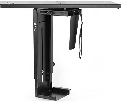 VIVO Adjustable Under-Desk Slider PC Mount Computer Case Holder with Pullout Slide and 360° Swivel (MOUNT-PC01D)
