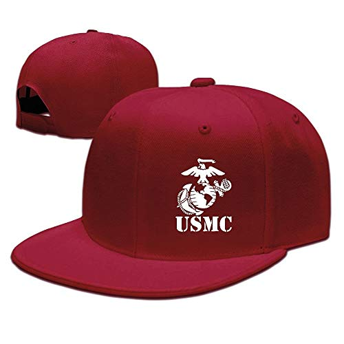 DD Decorative Adjustable Snapbacks Flat Brim Hat Unisex/Men/Women - Eagle Globe Anchor USMC Marine Corps - Mechanical Eye Pencil