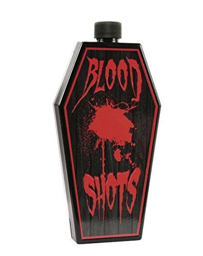 Preisvergleich Produktbild Vampir Flachmann Flasche in Sargform mit Drehverschluss perfekt für Halloween Horror Shooter für Bloody Mary, Schnaps Zombie Likör