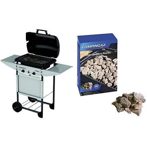 Campingaz Expert Plus Barbacoa gas piedra volcanica + Campingaz - Piedras Lava, 3 kg