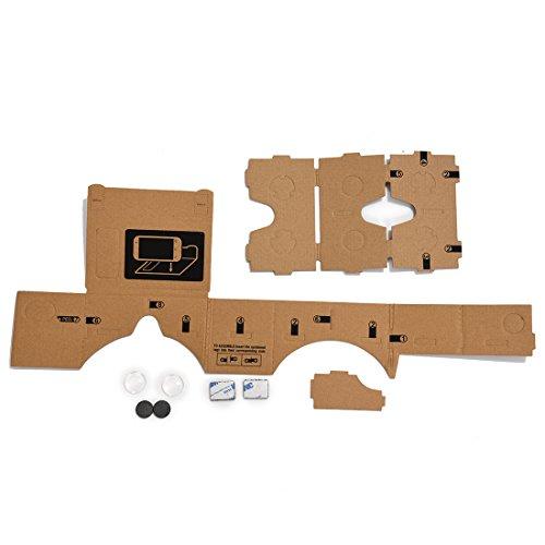 TOOGOO(R) Mobiltelefon Karton Qualitaet 3D Virtual Reality Brille