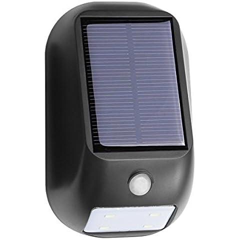 LE Energía solar LED de Movimiento Sensor de Luz, Noche Wireless Luz, Luz de la Pared, Luz de Seguridad para la Puerta, Entrada, Caminos, Patios, Jardín, Blanco Cálido