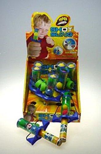 6x Ballschleuder Schleuder Ball Shot Sling inkl. 3 Bälle Mitgebsel Kindergeburtstag