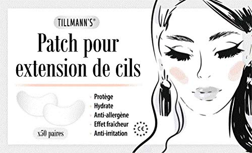 Tillmann's Patch extension cils - En collagène - 100 patchs pour pose de faux cils - Soins de beauté - Non Pelucheux - Hydrogel correctif au collagène, Anti-âge et repulpant - A poser sous les yeux - Soin du regard, outil de beauté - Pour Professionnels en Salon pour Extensions de cils individuels - 50 paires - Eye Gel Pads