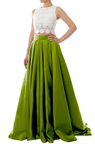 MACloth - Robe - Ajourée - Femme Vert - Vert olive