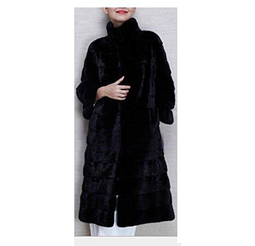 Femmes Dames d'hiver Chaud Manteau Épais Long Fluffy Manteau De Fourrure De Fausse Capuche À Manches Longues Veste Manteau D'extérieur Pardessus