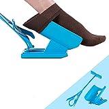 Porter une Chaussettes Aides, Luomike Chaussette Aide vous aide à enfiler vos chaussettes, réduit les douleurs dorsales (Bleu)