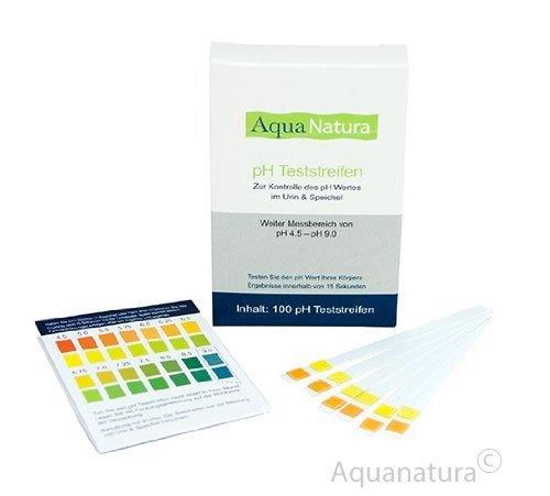 Aquanatura pH Teststreifen Urin & Speichel (100 Stück) Checken Sie Ihren Säure-Basen-Haushalt über den Speichel oder den Urin