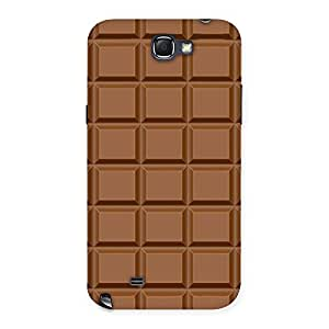Stylish Chocolate Class Print Back Case Cover for Galaxy Note 2