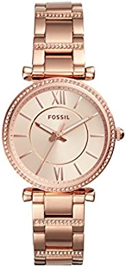 Fossil Womens Quartz Watch, Analog Display and Stainless Steel Strap ES4301