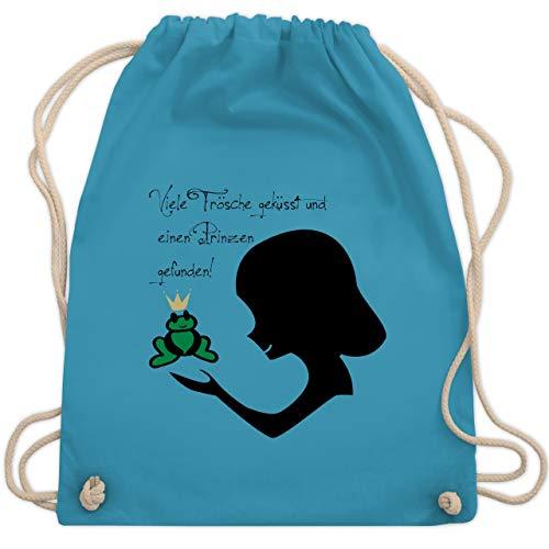 Kostüm Prinzessin Frosch - JGA Junggesellinnenabschied - Viele Frösche geküsst - Unisize - Hellblau - WM110 - Turnbeutel & Gym Bag