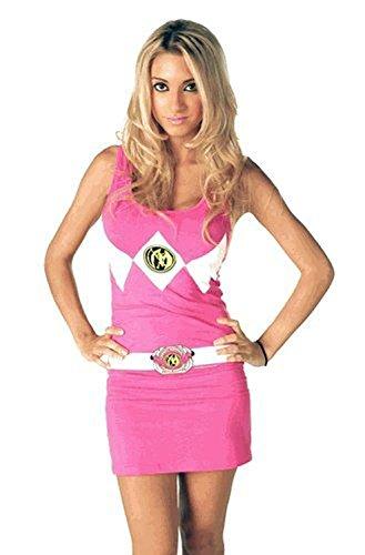 Power Rangers The Pink Tunic Tank Kleid With Socken (Junior (Power Ranger Kleider)