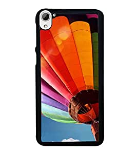 printtech Hot Air Balloon Colored Back Case Cover for HTC Desire 826