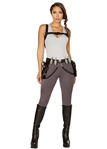 Magic Box Int. Womens Long Lara Croft Stil Abenteurer Kostüm Medium (UK 10-12)