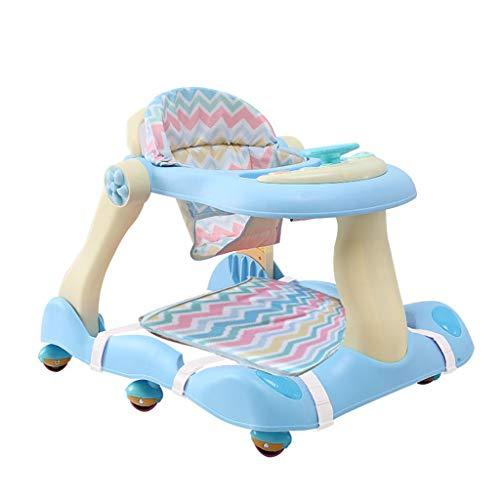 Correpasillos Bebé Plegable,Fisher Price, 6-18meses,Regulable En Altura Plegable Andador (color : Azul)