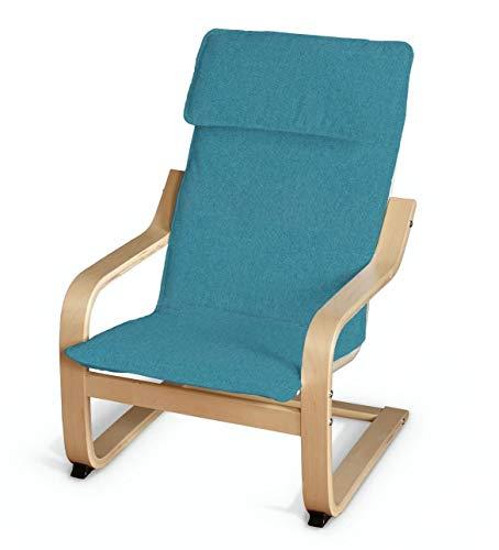 Dekoria Poäng Kissen für den Kindersessel Sesselhusse passend für IKEA Modell Klappsta türkis