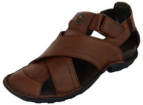 Foresthill Men's Brown Leather Outdoor Sandals_7 UK