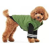 pet cotone cappotto caldo inverno morbido accogliente del cane del cotone corsetto vestiti 6 formati , green , l