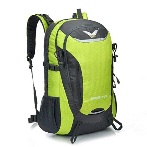 Z&N Backpack 40L KapazitäT Unisex Outdoor Bergsteigen Rucksack Camping Wandern Radfahren Skifahren Urlaub GepäCk Taschen College-Taschen Daypacks Tornister A
