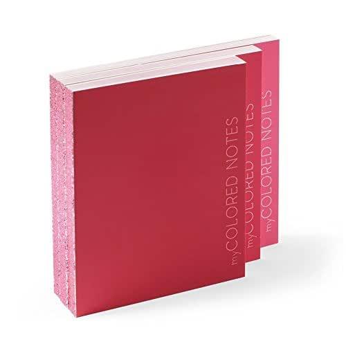 Idea regalo: Blocchi Notes Kit di 3 blocchi quaderni - MY COLORED NOTES ROSSO