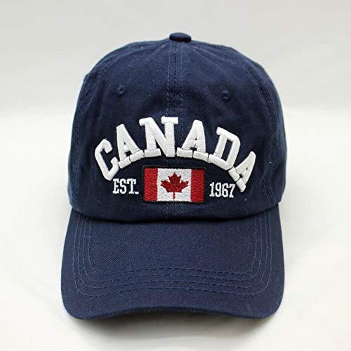 GHUKI Hut Marke Kanada Brief Stickerei Baseball Caps Hut für Männer Frauen Freizeit...