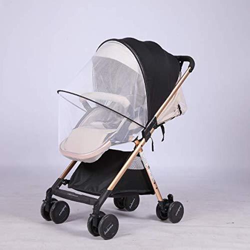 Universal Mückennetz Insektenschutz für Kinderwagen Babywagen Buggy Moskitonetz mit Sonnenverdeck Sonnenschutz, Anti-Wind und Anti- UV, Schutz vor Wespen & Stechmücken (Anti Wind Leichter)