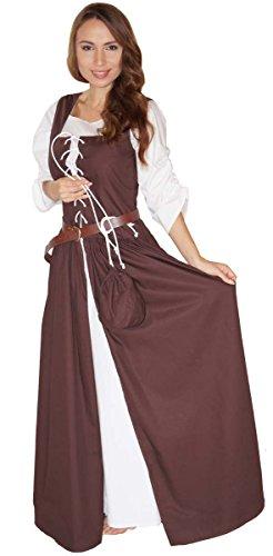 Kostüm Kleid Mittelalter - Maylynn 14261-S - Mittelalter Kostüm Magd Bäuerin Celia Kleid, Größe S ca. 36/38