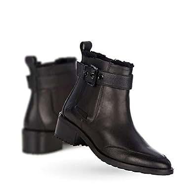 Emu Australia Emu MEDLOW Chelsea Damen Stiefeletten, Leder–schwarz–w11298, schwarz - schwarz - Größe: 35.5