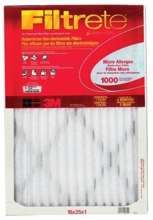 3M 9801-6Allergen Defense rot Micro oder Micron oder Mikrofaser Air Ofen Filter, 16x 25x 1-in, muss Ordnung in Mengen O 6 -
