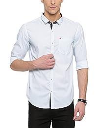 SHOWOFF Mens White Printed Casual Shirt