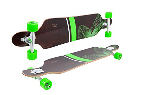 HUDORA Longboard Topanga, 100{705d0e1fb218b0af90ef2b3656a4b061a65814741b70fdb4a39d97e08f93f964} FSC - ABEC 7 - Skateboard - 12820