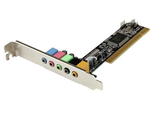 StarTech.com Carte son PCI 5 canaux - Carte audio PCI pour son surround - 1x PCI (M), 5x 3.5mm Mini Jack (F), 3x MPC2 (M)