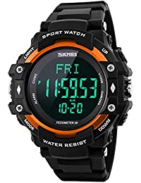 f302859af58c Monitor de frecuencia cardíaca del podómetro 3D Contador de calorías del  reloj deportivo Relojes de pulsera