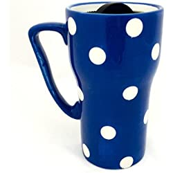 Polka Dots Travel Mug Color: Blue by A.C.K. Trading Co.