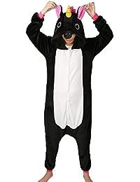 Tier Karton Kostüm Einhorn PyjamaTierkostüme Jumpsuit Erwachsene Schlafanzug Unisex Cosplay