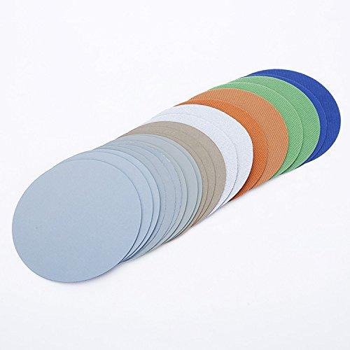 Mix Körnung Wasser Schleifstifte Schleifmittel Papier Körnung 3000/5000/7000/10000 Für Beflockung Schleifpapier Pad Haken & Loop Schleifscheibe Elektrische Grinder Accessory 74-80 mm 3Inch 20 Stück/lot