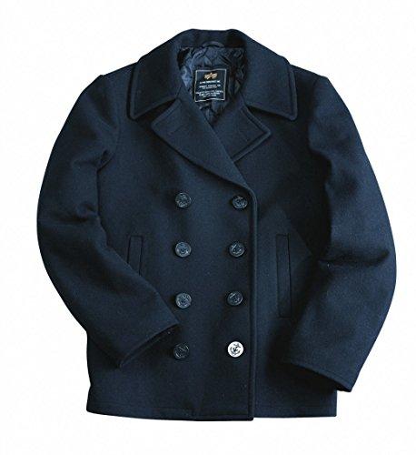 Alpha Industries Pea Coat USN, Farbe:navy;Größe:S Navy Pea Coat